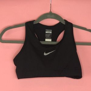 Girls Nike Pro Dri-Fit Sports Bra Classic Black